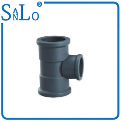 China Deep Gray Black Reducing Elbow Tee Pipe Fitting Highway Drainage Supply 40 Mm 50 Mm supplier
