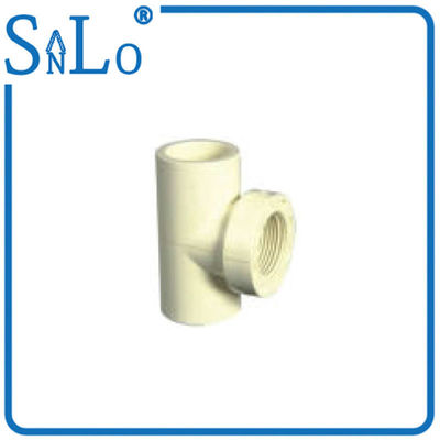 China White Female Threaded Reducing Tee By Both Outside And Idside Surface Are Smooth supplier