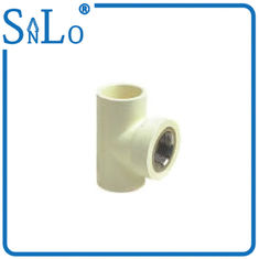 China Three Way Green Grey White 90 Degree Pipe Fitting With Brass Insert Half Inch supplier