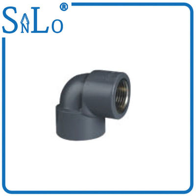 China Black  Plastic Plumbing Threaded Pvc Pipe Fittings , Female Pvc Pipe Elbow Connectors supplier