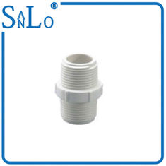 China 3 Inch Threaded PVC Pipe Fittings Irrigation , White Plastic Threaded Pipe Nipples supplier