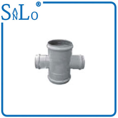 China Lightweight Insert Pvc Cross Tee Pipe Fitting Good Chemicals And Drugs Resistance supplier