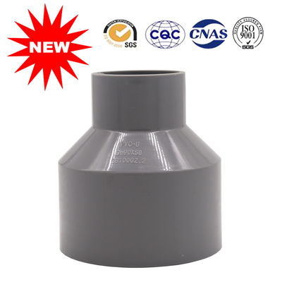 China DIN PN10 Water Supply Pipes And Fittings Gray UPVC Reducer Solvent Joint supplier