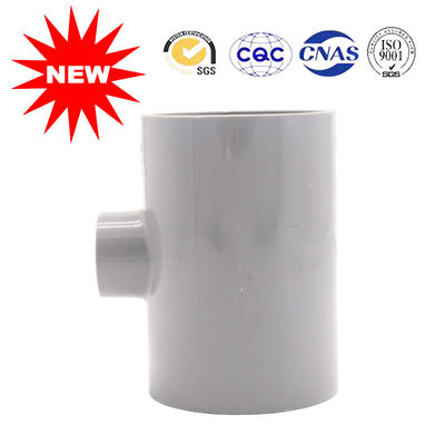 China Positive Three Links Gray UPVC PVC Tee Pipe Fittings Lightweight Widely Used supplier