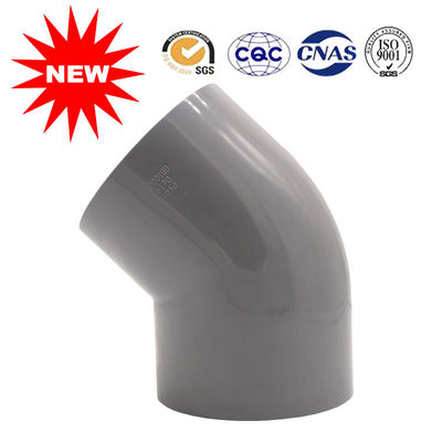 China Water Pipe Fittings 45 Pvc Elbow , Plastic Pipe Elbow For Water Supply supplier