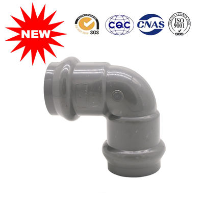 China Free Sample PVC U Joint Pipe Fittings Two Pvc Faucet Elbow 90 High Durability supplier