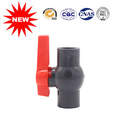 China Customized Size UPVC Ball Valve Gray Color Pvc Ball Valve For Water System supplier