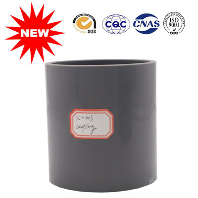 China Black Color UPVC Coupling Pipe Fittings For Supply System , Carton Transport Packaging supplier