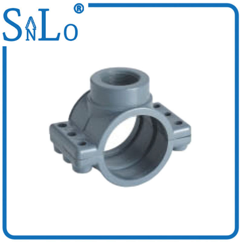 2 / 3 Inch PVC Water Pipe Fittings , Heat Insulation Grey