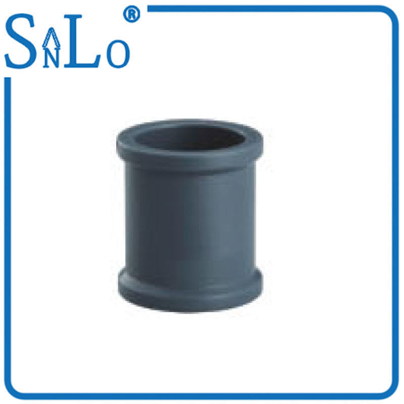 China Round Grey Blue Pvc Pipe Joints Couplings Plumbing Supply Four Inch Six Inch Supplier