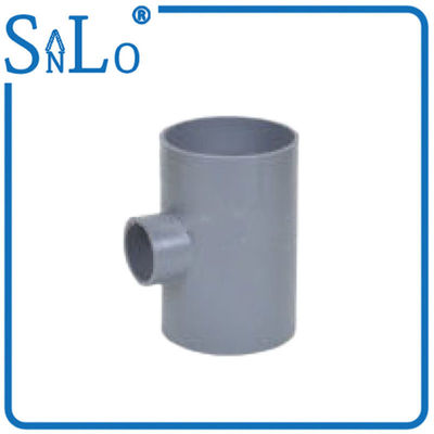China 3 Way Pvc Water Pipe Fittings , Solvent Reducing Tee Pipe Fitting Din distributor