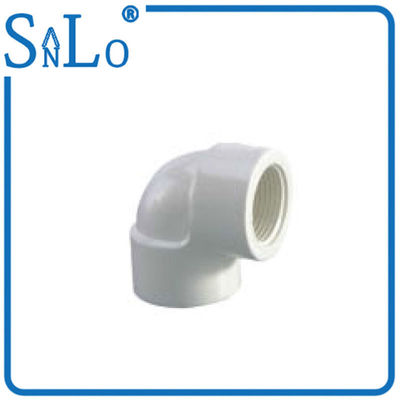 China 4 Inch Good Impact Strength White Pvc Elbow Joint FF Resistant To High Temperatures distributor
