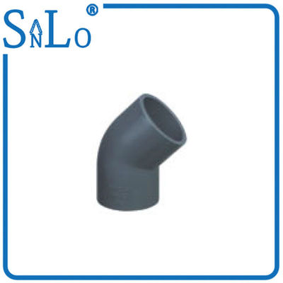 China Chemical Construction 1 Inch Sch 40 Pvc Pipe Fittings , Bendable 45 Degree Elbow distributor