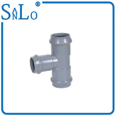 China Upvc Three Faucet Reducing Tee Pipe Fitting Din With Rubber Ring Three Way distributor