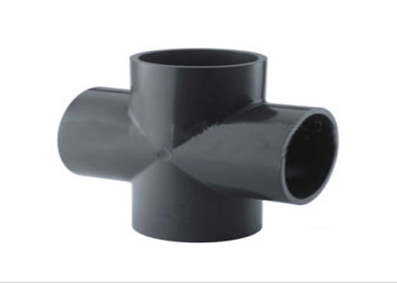 China D2467 1 / 2 - 6  Black Plumbing Cross Fitting With Round Head Type  For Houses distributor
