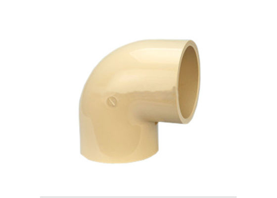 China 75mm Hot Water CPVC 90 ° Plumbing Elbow Joint  20 ~ 200 DIN Standard Chemical distributor