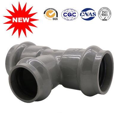 China Casting UPVC Pressure Pipe Fittings PVC Faucet Tee Connector For Free Sample distributor