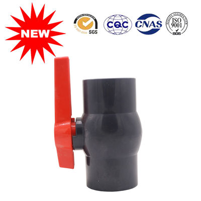 China Reliable PVC Ball Valve UPVC Pressure Fittings In Gray Color For Water System distributor