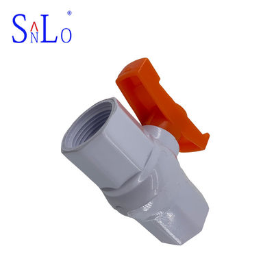 China Small Size Water Supply Fittings Pvc Ball Valve Use In Petroleum Refining distributor
