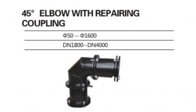 Weldable UPVC Pipe Fittings With Repairing Coupling For Construction Engineering