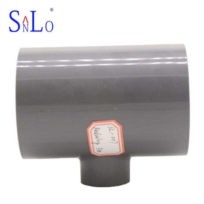Durable Pvc Tee Fitting For Chemical Field Pipe , Long Life Using Time