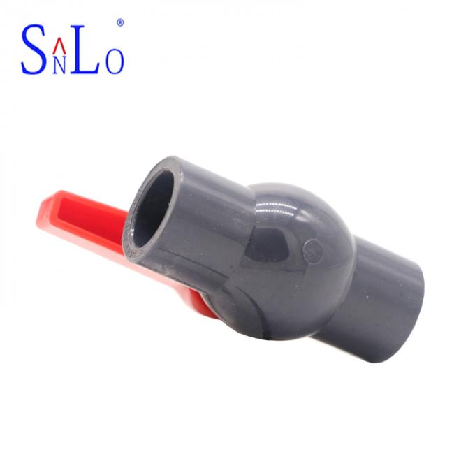 Customized Size UPVC Ball Valve Gray Color Pvc Ball Valve For Water System