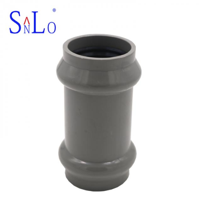 Two Faucet Coupling Plastic Water Pipe Fittings UPVC PPV And PVC Material