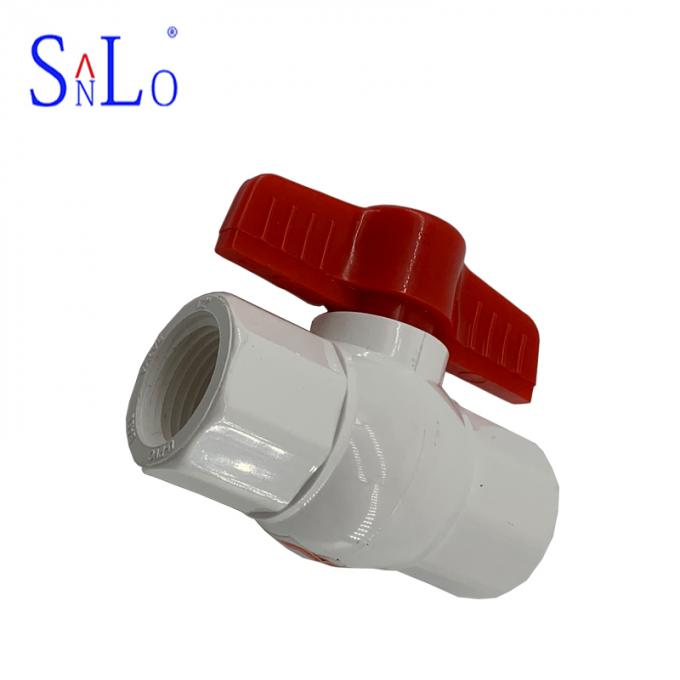 PN16 Compact Ball Valve Pvc U Joint Pipe Fittings For 7-20 Days Delivery