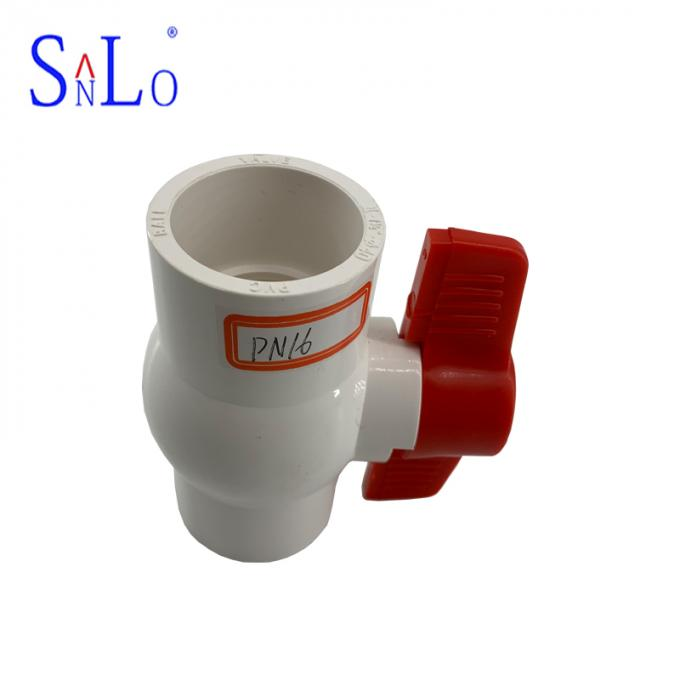 Water System PVC U Joint Pipe Fittings , Pvc Compact Ball Valve Long Life